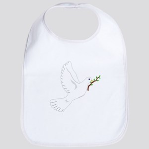 Dove with Olive Branch Bib