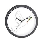 Dove with Olive Branch Wall Clock