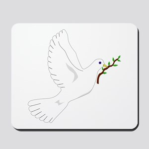 Dove with Olive Branch Mousepad