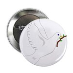 """Dove with Olive Branch 2.25"""" Button (10 pack)"""