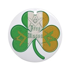 The Masons Irish Clover Ornament (Round)