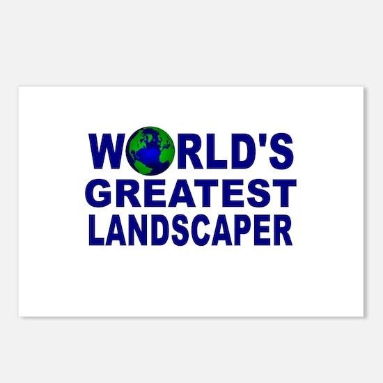 World's Greatest Landscaper Postcards (Package of