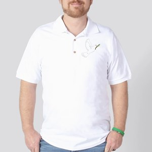 Dove with Olive Branch Golf Shirt