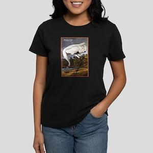Audubon Whooping Crane Bird (Front) Women's Dark T