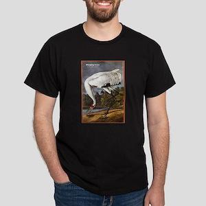 Audubon Whooping Crane Bird (Front) Dark T-Shirt