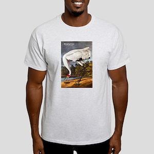 Audubon Whooping Crane Bird (Front) Light T-Shirt