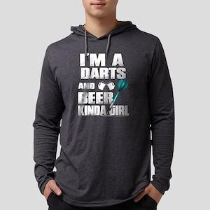 I'm A Darts And Beer Kinda Gir Long Sleeve T-Shirt