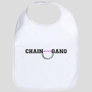 CHAIN GANG - PINK! Baby Bib