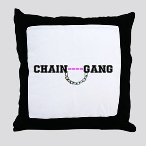 CHAIN GANG - PINK! Throw Pillow