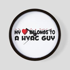Belongs To A HVAC Guy Wall Clock