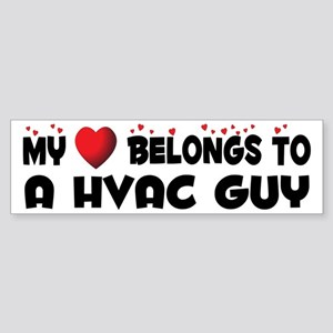 Belongs To A HVAC Guy Bumper Sticker