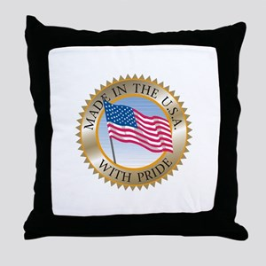 MADE IN THE USA SEAL! Throw Pillow