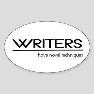 Writer Joke Oval Sticker