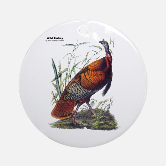 Audubon Wild Turkey Bird Ornament (Round)