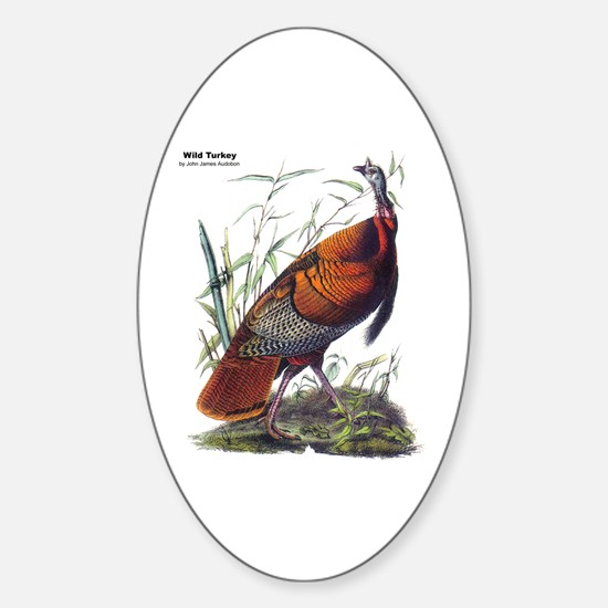Audubon Wild Turkey Bird Oval Decal