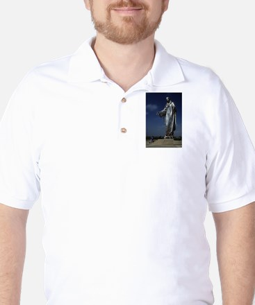 Giant Statue of the Holy Moth Golf Shirt