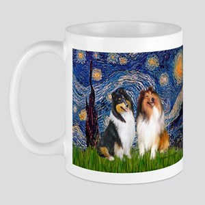 Starry Night / Collie pair Mug
