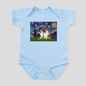 Starry Night / Collie pair Infant Bodysuit