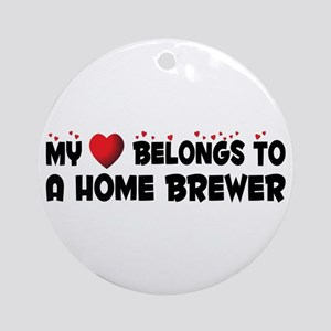Belongs To A Home Brewer Ornament (Round)