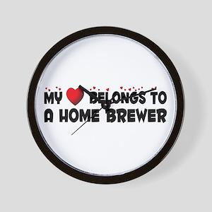 Belongs To A Home Brewer Wall Clock