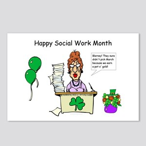 Social Work Month Desk2 Postcards (Package of 8)