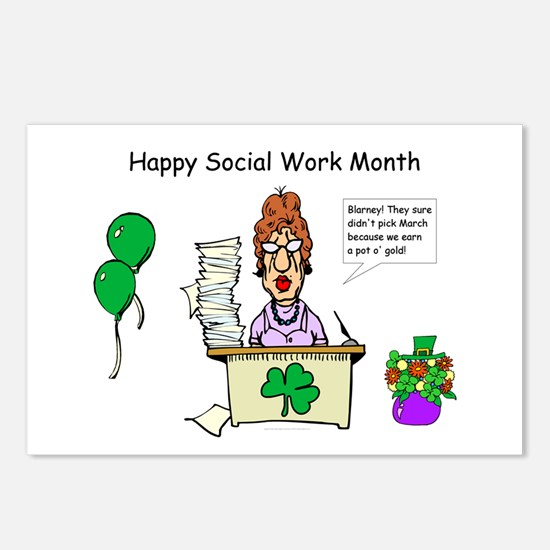 Social Work Month Desk2 Postcards (Package of 8)