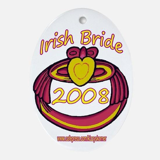 PINK CLADDAGH BRIDE 2008 Oval Ornament