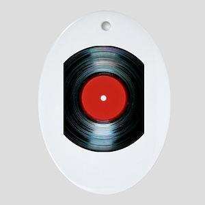 vinyl Oval Ornament