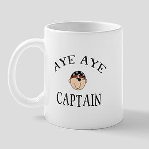 Aye Aye Captain Pirate Mug