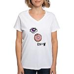 I Donut Know Women's V-Neck T-Shirt