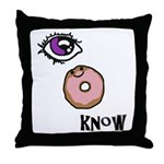 I Donut Know Throw Pillow