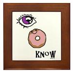 I Donut Know Framed Tile