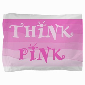 Think Pink Ombre Pillow Sham