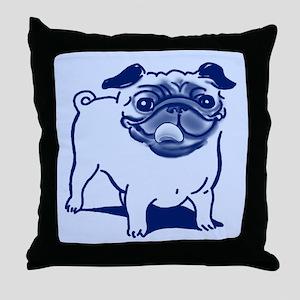 Sluggo in Blue Throw Pillow