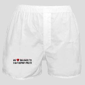 Belongs To A Heavy Equipment Operator Boxer Shorts