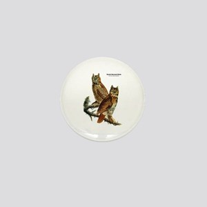 Audubon Great Horned Owls Mini Button
