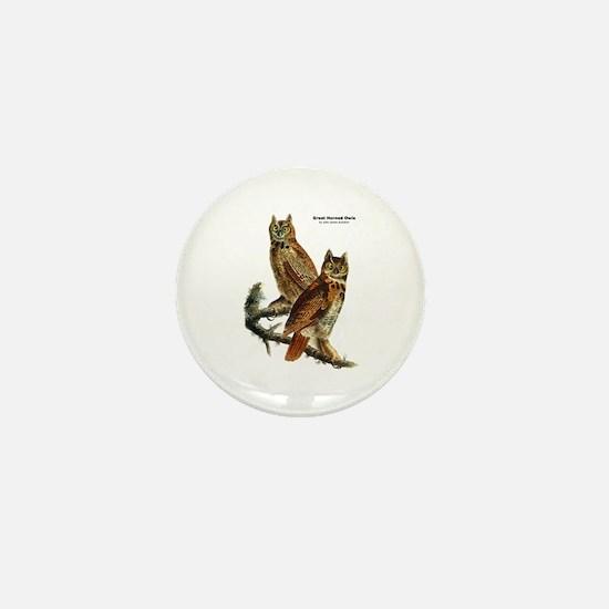 Audubon Great Horned Owls Mini Button