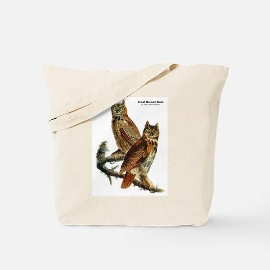 Audubon Great Horned Owls Tote Bag