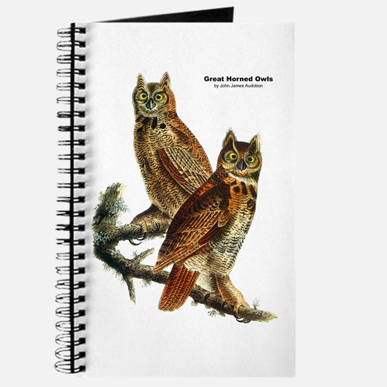 Audubon Great Horned Owls Journal