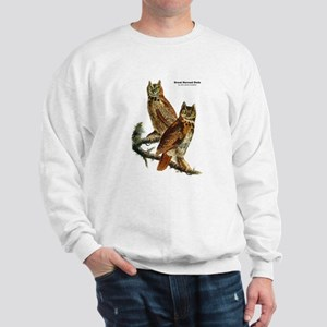 Audubon Great Horned Owls (Front) Sweatshirt