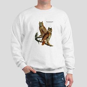 Audubon Great Horned Owls (Front) Sweatshirt