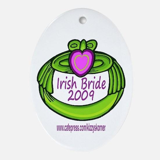 GREEN CLADDAGH BRIDE 2009 Oval Ornament