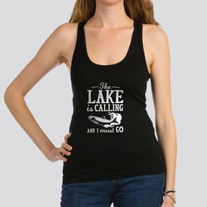The Lake Is Calling Racerback Tank Top