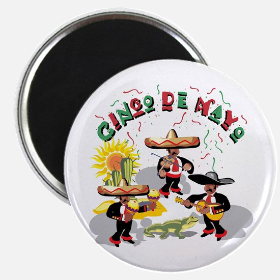 "Cinco de Mayo Band 2.25"" Magnet (10 pack)"