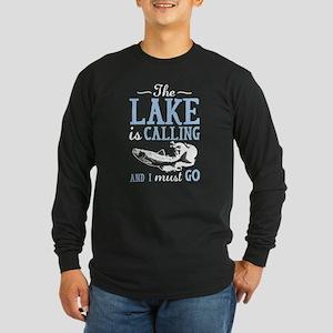 The Lake Is Calling Long Sleeve Dark T-Shirt