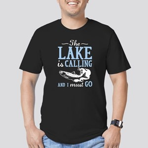 The Lake Is Calling Men's Fitted T-Shirt (dark)