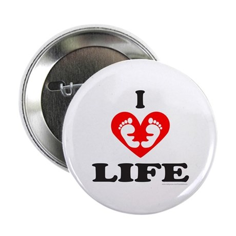 """PRO-LIFE/RIGHT TO LIFE 2.25"""" Button (100 pack)"""