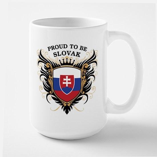 Proud to be Slovak Large Mug
