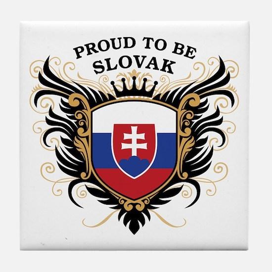 Proud to be Slovak Tile Coaster