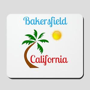 Bakersfield California Palm Tree and Sun Mousepad